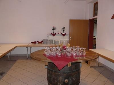 Vorraum für Buffet etc. in der Grossheppacher Kelter